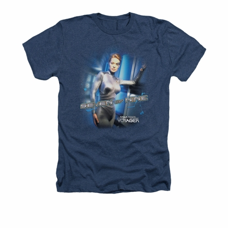 Star Trek Seven of Nine Heather T Shirt