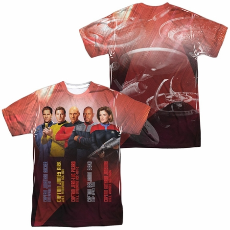 Star Trek Ship Captains FB Sublimated T Shirt