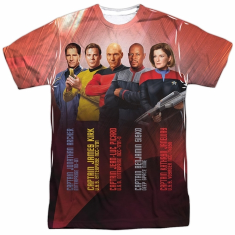 Star Trek Ship Captains Sublimated T Shirt