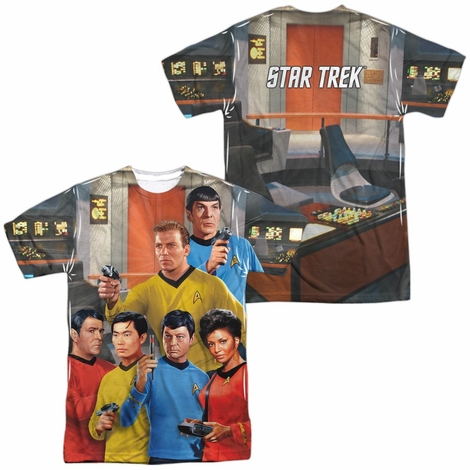 Star Trek Six On Bridge FB Sublimated T Shirt