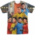 Star Trek Six On Bridge Sublimated T Shirt