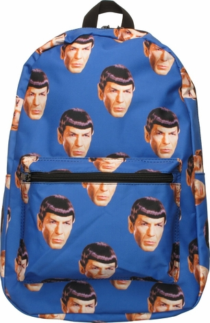 Star Trek Spock Head All Over Print Backpack