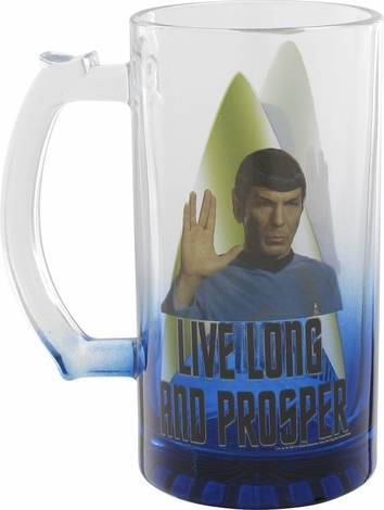 Star Trek Spock Live Long and Prosper Glass Mug