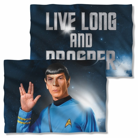 Star Trek Spock Salute FB Pillow Case