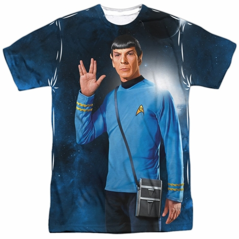 Star Trek Spock Salute Sublimated T Shirt