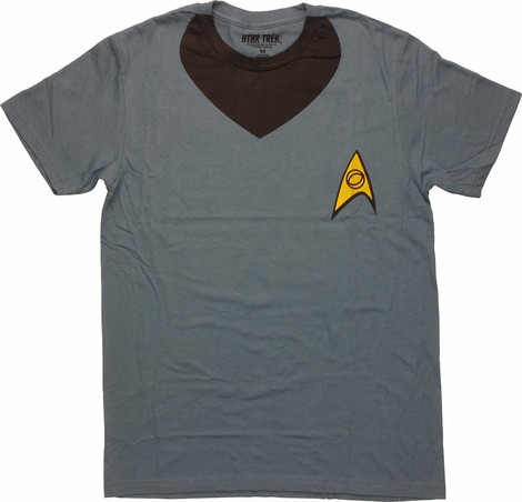 Star Trek Spock Uniform T Shirt Sheer