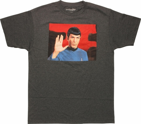 Star Trek Spock Vulcan Salute Mighty Fine T-Shirt