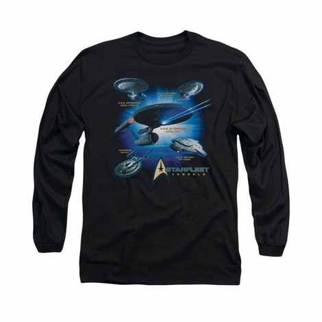 Star Trek Starfleet Vessels Long Sleeve T Shirt