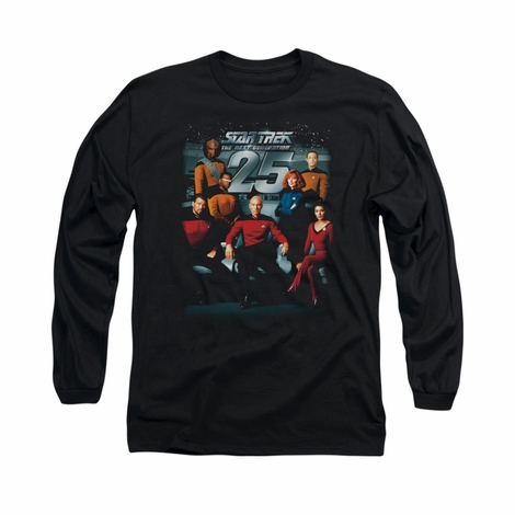 Star Trek TNG 25 Cast Long Sleeve T Shirt