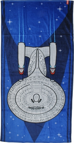 Star Trek TNG Enterprise Top Beach Towel