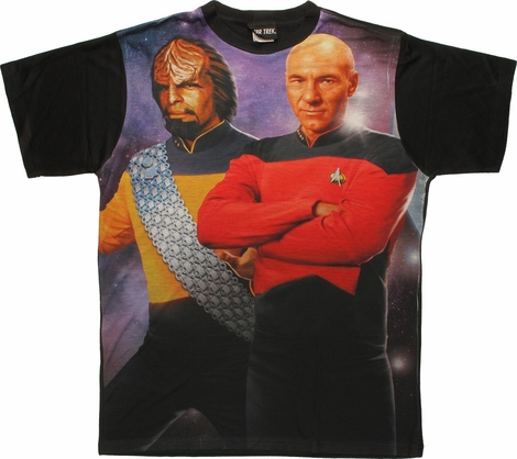 Star Trek TNG Worf Picard BB Sublimated T Shirt