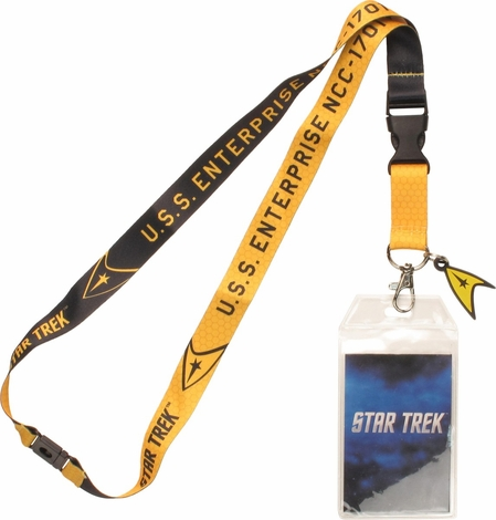 Star Trek TOS Enterprise Gold Charm Lanyard