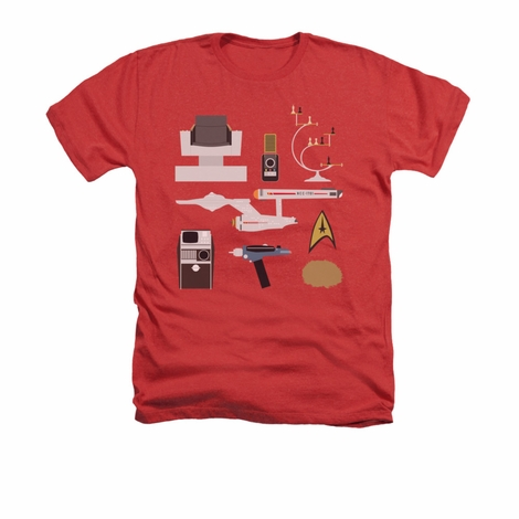 Star Trek TOS Gift Set Heather T Shirt