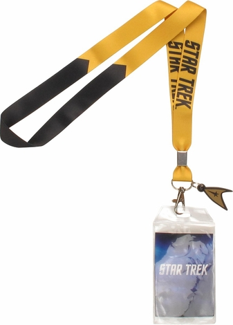 Star Trek TOS Gold Command Charm Lanyard
