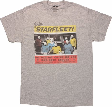 Star Trek TOS Join Starfleet Sport Gray T-Shirt