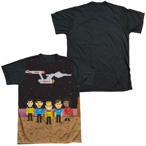 Star Trek TOS Pixel Crew BB Sublimated T Shirt
