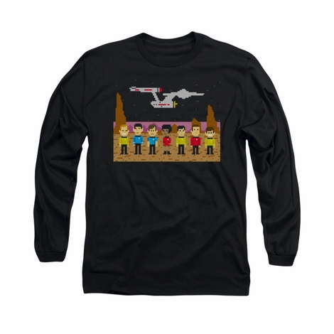 Star Trek TOS Pixel Crew Long Sleeve T Shirt