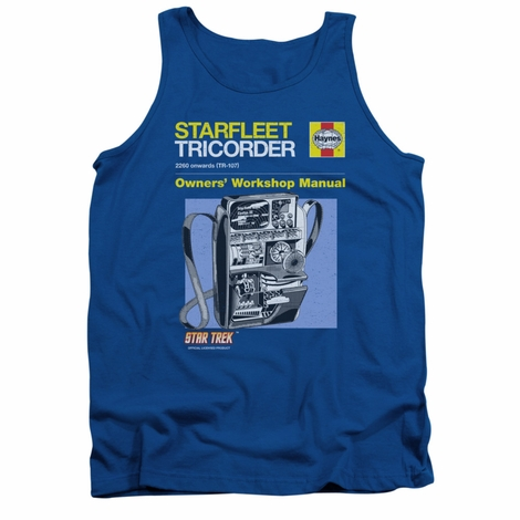 Star Trek Tricorder Manual Tank Top