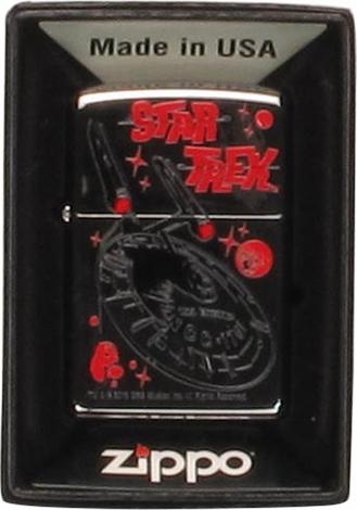 Star Trek USS Enterprise Chrome Zippo Lighter