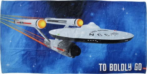 Star Trek USS Enterprise To Boldly Go Towel