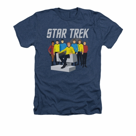 Star Trek Vector Crew Heather T Shirt