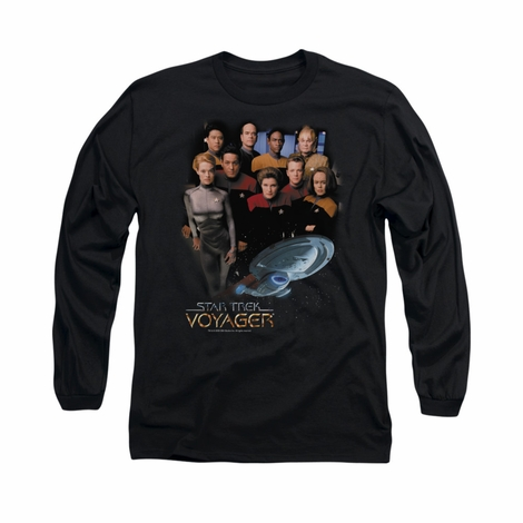 Star Trek Voyager Crew Long Sleeve T Shirt