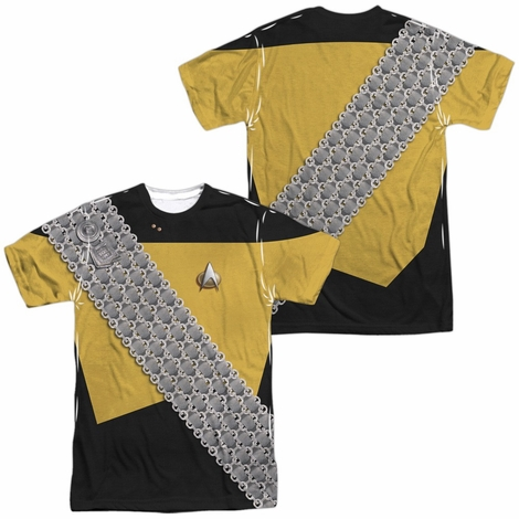 Star Trek Worf Uniform FB Sublimated T Shirt