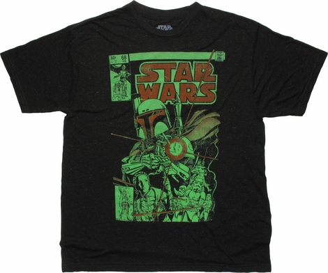 Star Wars Boba Blast Cover Speckled T-Shirt