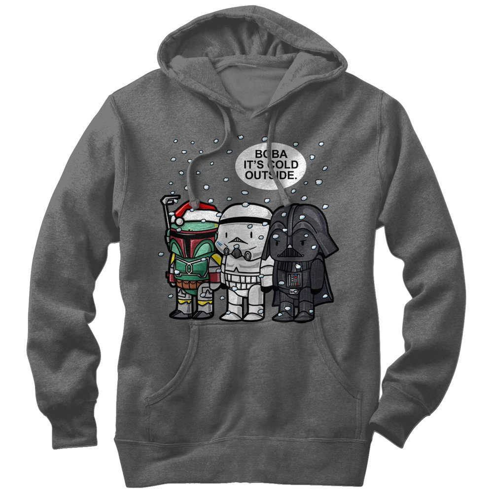 star wars boba cold outside pullover hoodie. Black Bedroom Furniture Sets. Home Design Ideas
