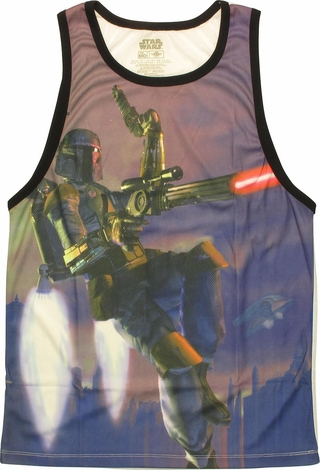 Star Wars Boba Fett Blast Off Sublimated Tank Top