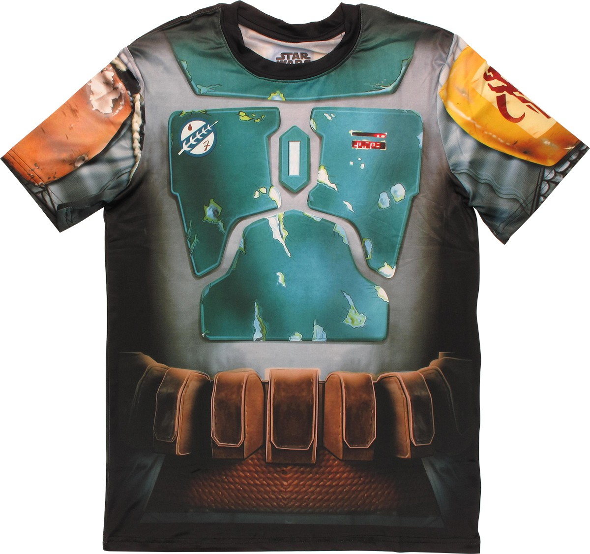 star wars boba fett sublimated costume t shirt sheer. Black Bedroom Furniture Sets. Home Design Ideas