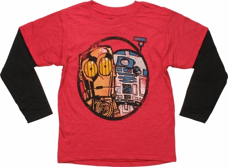 Star Wars Droids Red Long Sleeve Juvenile T-Shirt