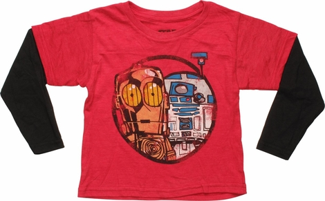 Star Wars Droids Red Long Sleeve Toddler T-Shirt