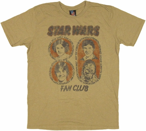 Star Wars Fan Club T Shirt Sheer