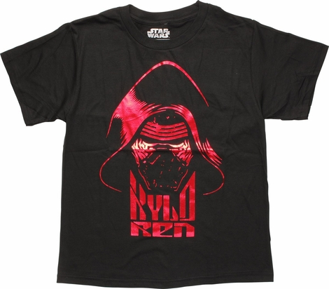 Star Wars Force Awakens Foiled Kylo Youth T-Shirt
