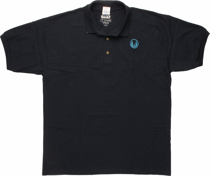 star wars jedi order logo navy blue polo shirt