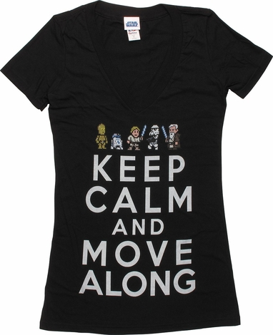 Star Wars Keep Calm V Neck Juniors T-Shirt