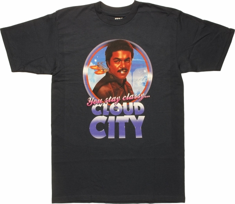 Star Wars Lando Stay Classy Cloud City MF T-Shirt