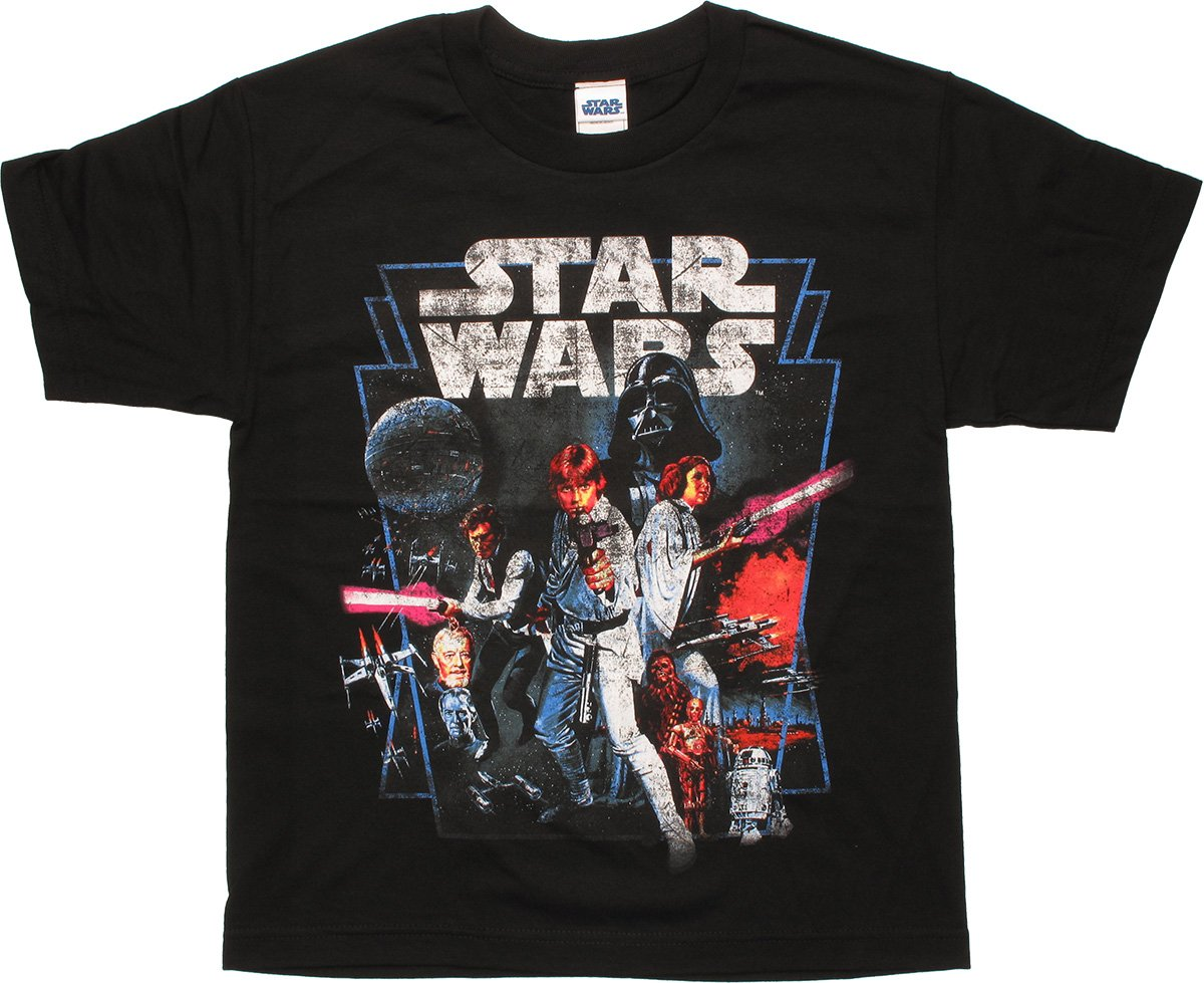 star wars new hope youth t shirt. Black Bedroom Furniture Sets. Home Design Ideas