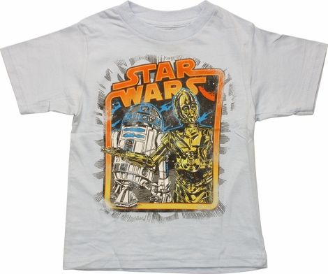 Star Wars Original Droids Framed Toddler T-Shirt