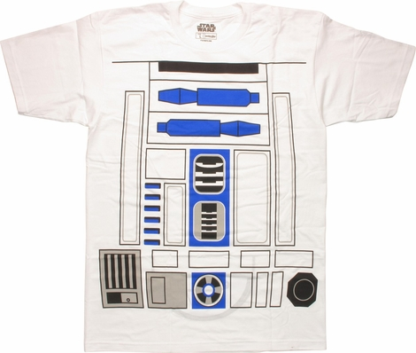 Star Wars R2-D2 Flip Over Costume MF T-Shirt