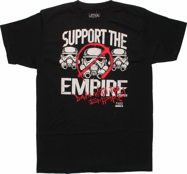 star wars rebels down with empire t shirt. Black Bedroom Furniture Sets. Home Design Ideas