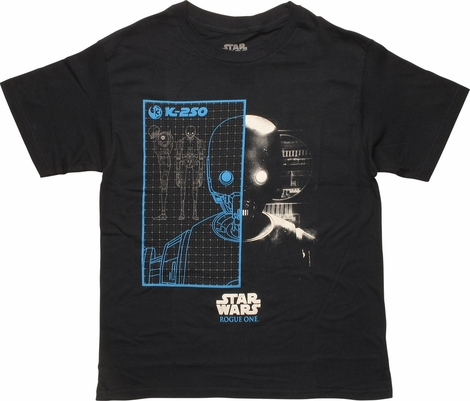 Star Wars Rogue One K2SO Grid Youth T-Shirt