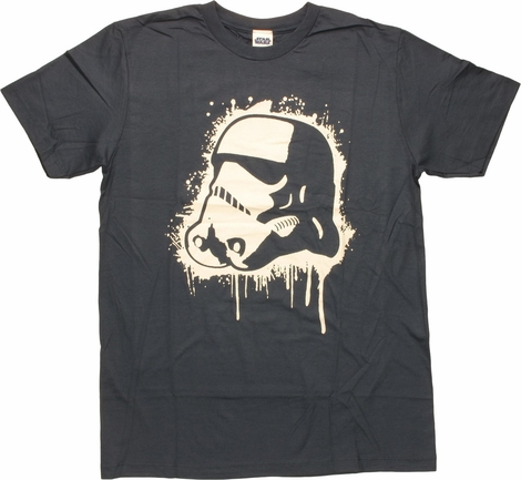 Star Wars Stormtrooper Helmet Painted T-Shirt