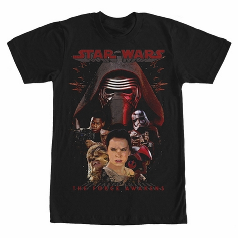 Star Wars TFA Characters T-Shirt