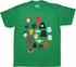 Star Wars Toon Heads Green T Shirt Sheer