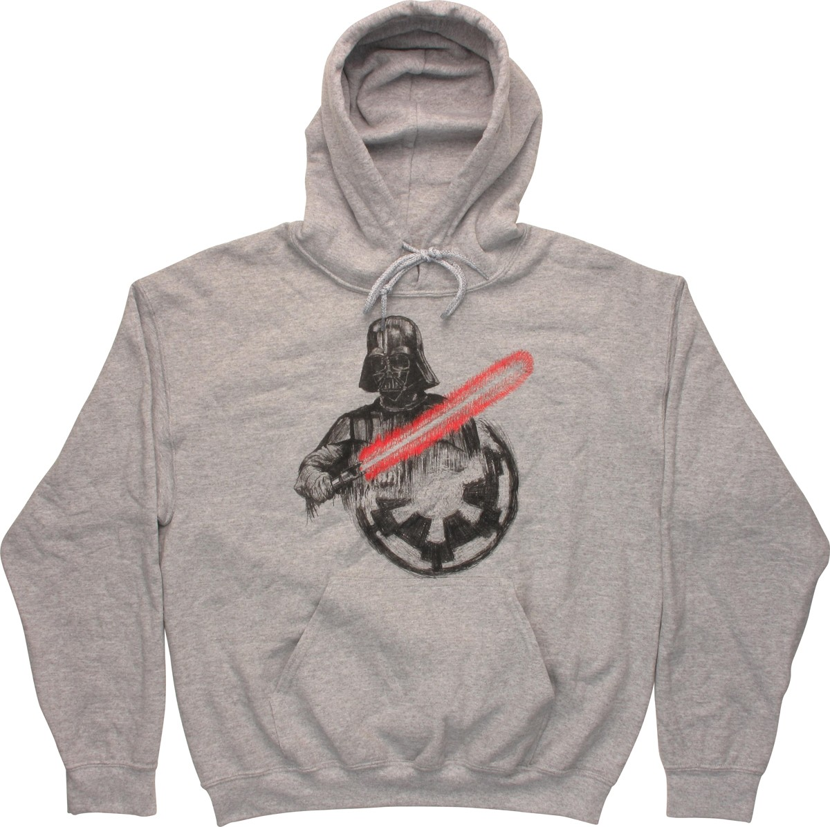star wars vader imperial logo gray pullover hoodie. Black Bedroom Furniture Sets. Home Design Ideas