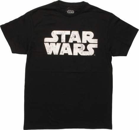 Star Wars Vintage Name Logo Black T-Shirt