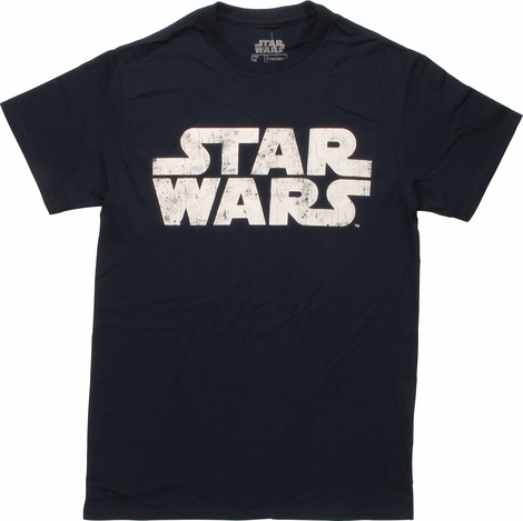 Star Wars Vintage Name Logo Navy T-Shirt