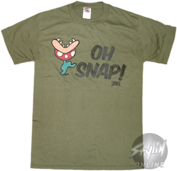 Super mario 3 oh snap t shirt for Snap t shirt printing
